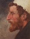 Голова рыжего мужчины (в профиль). 1880-е