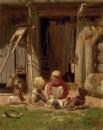 Дети с курочками 1872 холст, масло