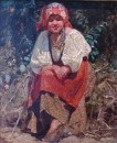 Молодая белоруска (1880). Этюд к картине