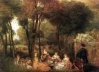 На Елисейских полях (ок.1718) (32 х 41) (Лондон, собрание Уоллеса)