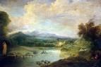 Пейзаж с водопадом (ок.1714) (72 x 106) (С-Петербург, Эрмитаж)