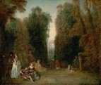 Перспективы (Вид между деревьями в парке Пьера Кроза) (ок.1715) (46.7 x 55.3) (Бостон, Музей изящ.ис