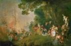 Паломничество на Киферу (между 1718 и 1720) (129 х 194) (Берлин, дворец Шарлоттенбург)