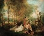 Праздник любви (ок.1717) (61 x 75) (Дрезденская галерея).