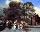 Итальянские комедианты (ок.1715) (71 х 94) (Берлин, Дворец Шарлоттенбург)