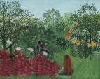 Тропический лес с обезьянами