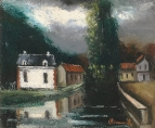 Houses on the Banks of Eau