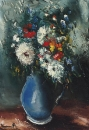 Bouquet in the Blue Vase