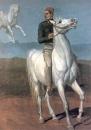 Французский солдат на белом коне. 1847