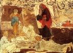 Три странника, возвещающих Аврааму рождение Исаака. 1850-е