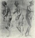 Венера Медицейская. Три рисунка со статуи. 1830-1831