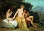 Аполлон, Гиацинт и Кипарис, занимающийся музыкой и пением. 1831-1834