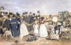 Октябрьский праздник в Риме у Понте Молле. 1842