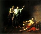 Иосиф, толкующий сны заключённым с ним в темнице виночерпию и хлебодару. 1827