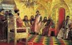 Сидение царя Михаила Фёдоровича с боярами в его государевой комнате.