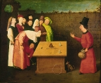 Фокусник (1475-1480) (53 х 65) (Сен-Жермен-эн-Лайе, Муниципальный музей)