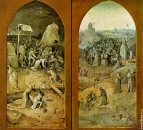 Триптих 'Искушение св.Антония' (между 1495 и 1515) (131 х 53) (Лиссабон, Нац. музей старого иск