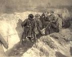 Сталин и Ворошилов в окопах Царицына