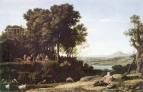 Пейзаж с Аполлоном, музами и речным богом