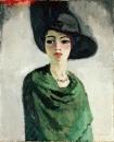 Женщина в черной шляпе