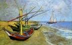 Рыбачьи лодки на берегу в Сен-Марье
