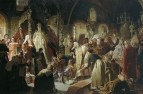 Спор о вере. 1881. Холст, масло. 336.5x512 ГТГ
