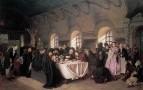 Трапеза. 1865-1876 Холст, масло. 84x126 ГРМ