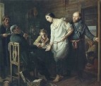 Приезд станового на следствие. 1857 Х., м. 38х43 ГТГ
