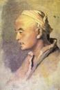 Голова киргиза. Этюд. Х. на к., м. 32.5х22.6 ГТГ