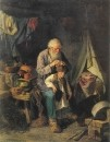 Дедушка и внучек. 1871 Х., м. 78х62 Ташкент