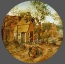 Деревенская улочка с крестьянами (ок.1600) (частная коллекция)