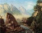 Схватка в горах Дагестана. Масло