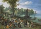 Люди, танцующие на речном берегу, 1616
