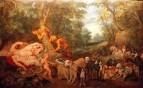 Jan Brueghel, Pieter Paul Rubens - Спящие Диана и Ее Нимфы, наблюдаемые сатирами, 1623