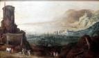 Jan Brueghel, Joos DeMomper - Портовый ландшафт укреплениями, 1610-1620