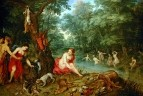 Jan Brueghel, Hendrik van Balen - Купающиеся нимфы, 17 в