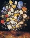 Букет цветов в глиняной вазе, 1599