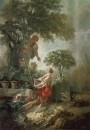 Пейзаж с собирательницами вишен, 1768