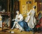Дама за туалетом, 1742