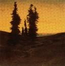Ели в заходящем солнце. 1849