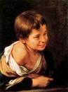 Крестьянский мальчик, облокачивающийся на подоконник