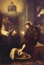 Святой Августин, моющий ноги Христу, 1650-55