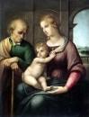 Святая семья с безбородым Иосифом