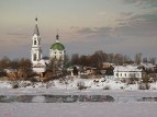 Первые проталины. Екатерининский женский монастырь.