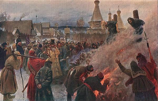 Мясоедова картины Сожжение протопопа Аввакума