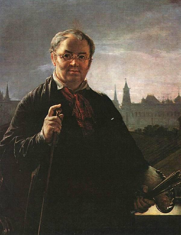 Автопортрет на фоне окна. Тропинин