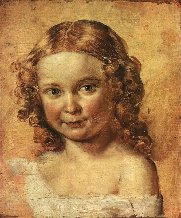 Этюд к портрету в и ершовой с дочерью
