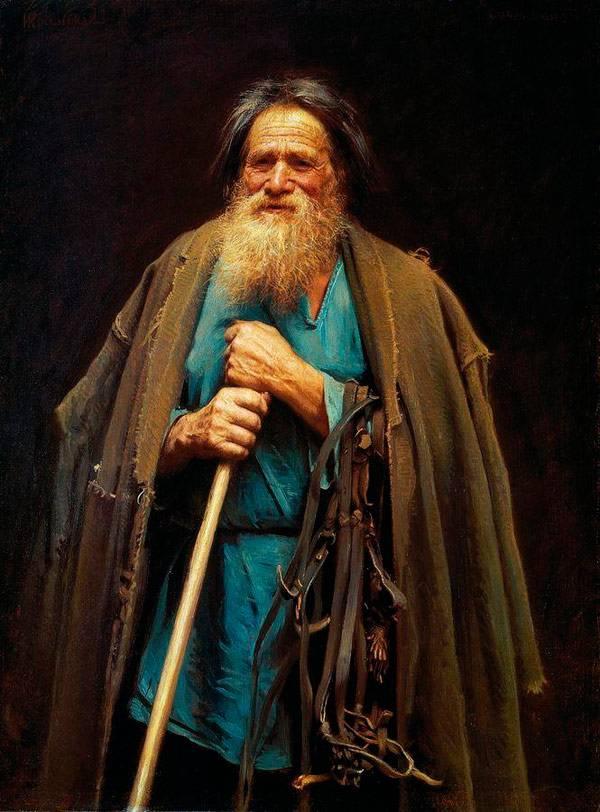 Крестьянин с уздечкой. Мина Моисеев. 1883