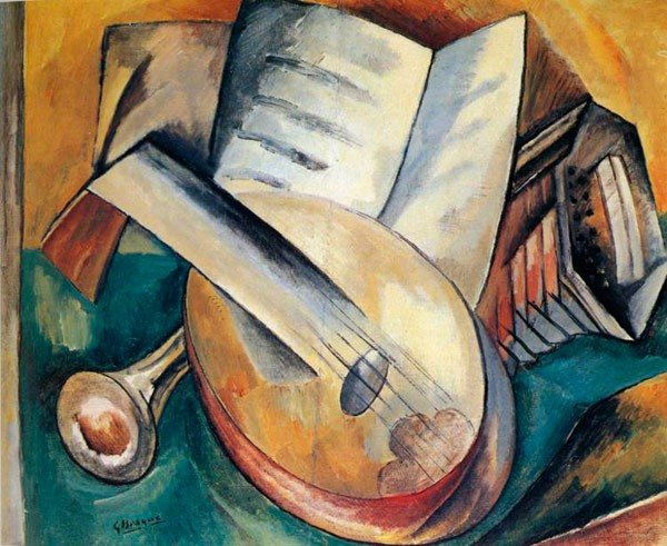 Still Life with Musical Instruments. 1908.