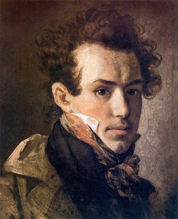 Автопортрет (с розовым шейным платком). 1809